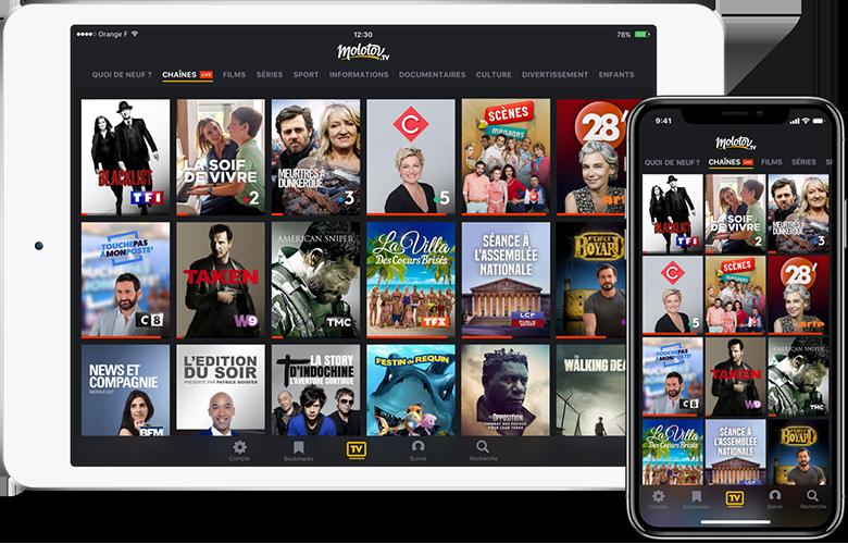 TV direct sur mobile et tablette tactile